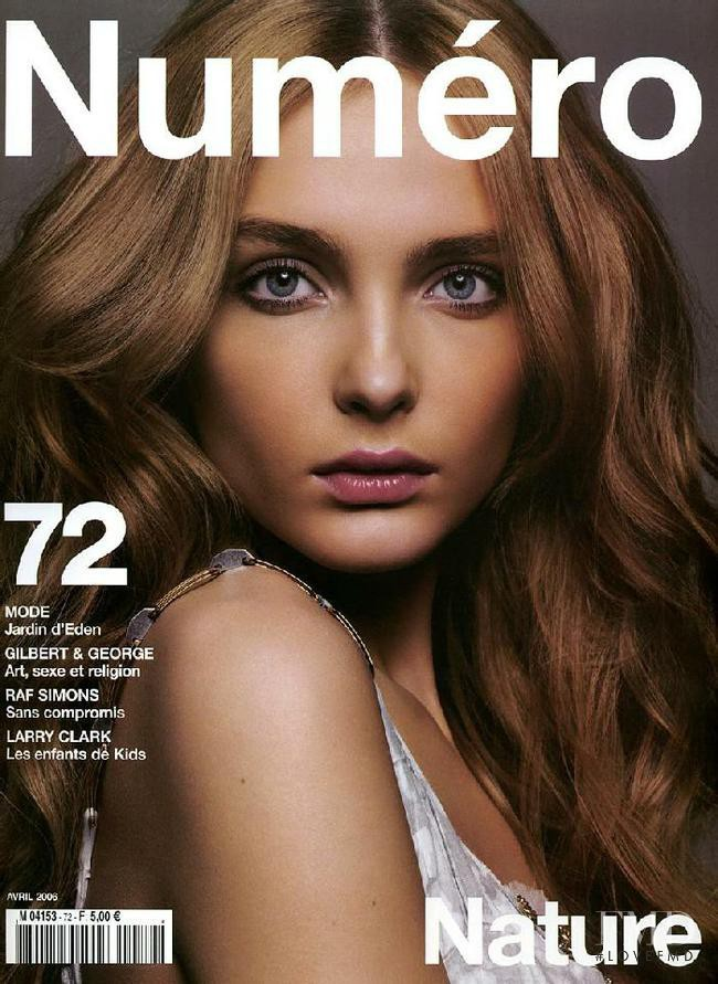 Snejana Onopka featured on the Numéro France cover from April 2006