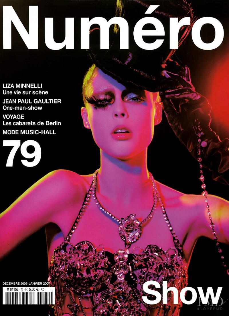Coco Rocha featured on the Numéro France cover from December 2006