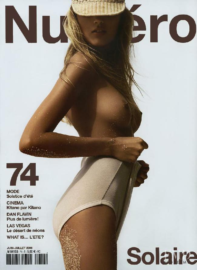 Anja Rubik featured on the Numéro France cover from June 2006
