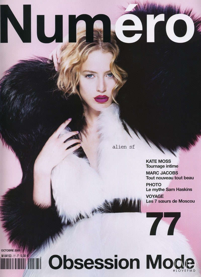 Raquel Zimmermann featured on the Numéro France cover from October 2006