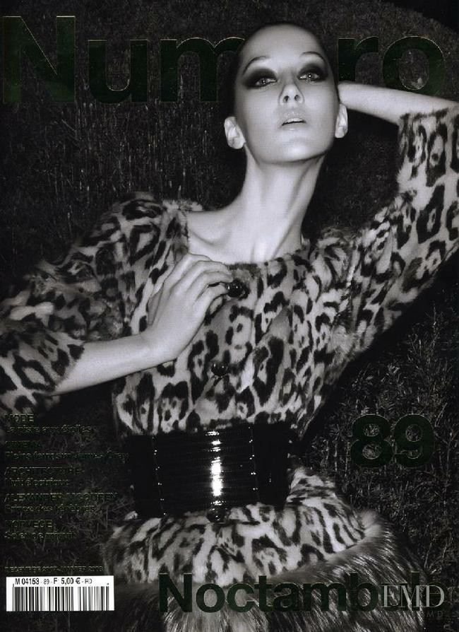 Alana Zimmer featured on the Numéro France cover from December 2007