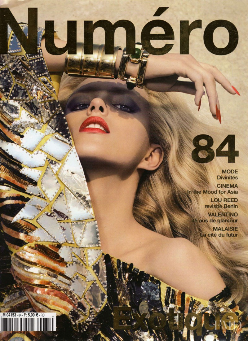 Anja Rubik featured on the Numéro France cover from June 2007