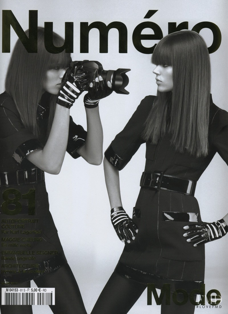 Freja Beha Erichsen featured on the Numéro France cover from March 2007