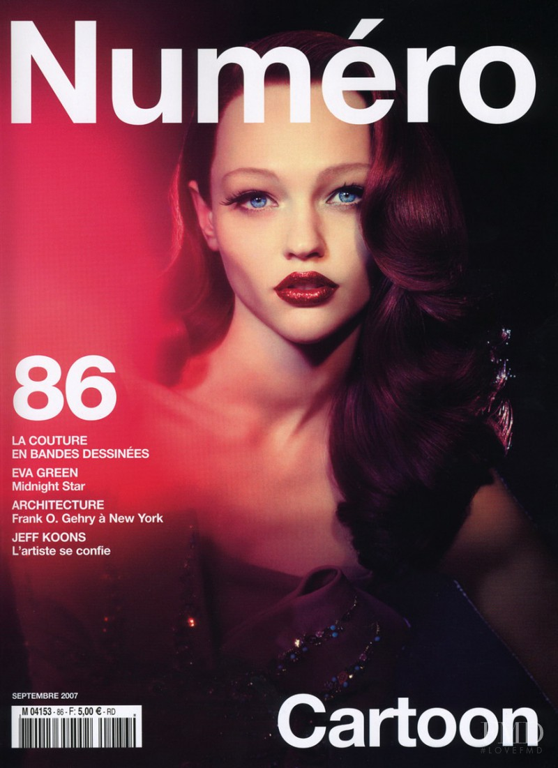 Sasha Pivovarova featured on the Numéro France cover from September 2007