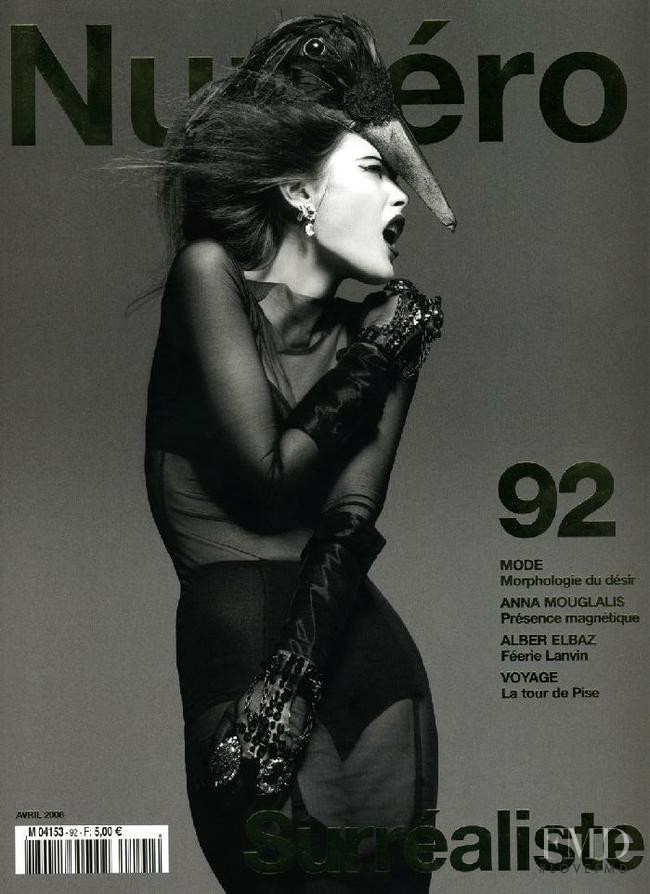 Catherine McNeil featured on the Numéro France cover from April 2008