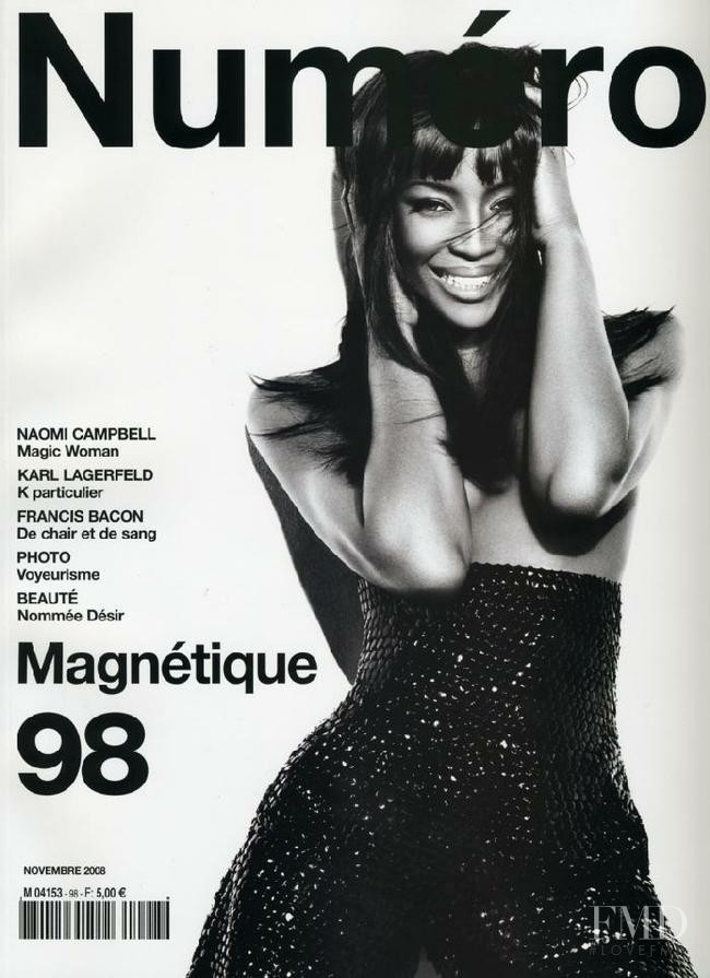 Naomi Campbell featured on the Numéro France cover from November 2008