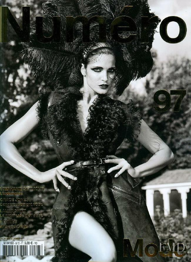 Stephanie Seymour featured on the Numéro France cover from October 2008