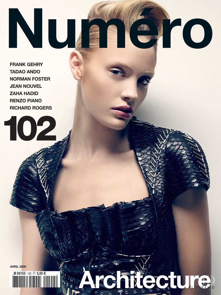 Heidi Mount featured on the Numéro France cover from April 2009