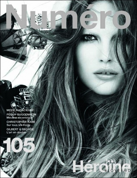 Catherine McNeil featured on the Numéro France cover from August 2009