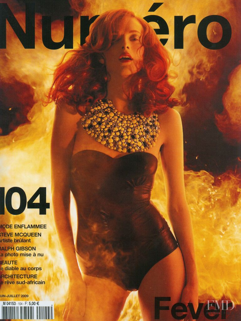 Karen Elson featured on the Numéro France cover from June 2009