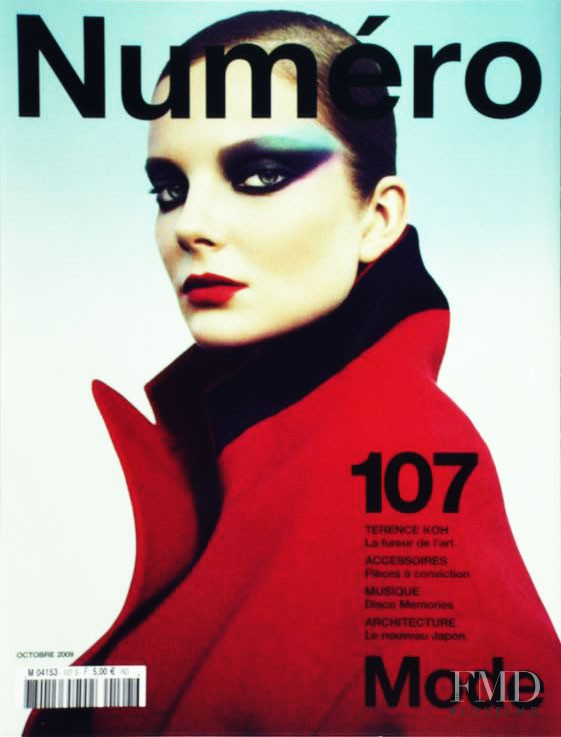 Eniko Mihalik featured on the Numéro France cover from October 2009