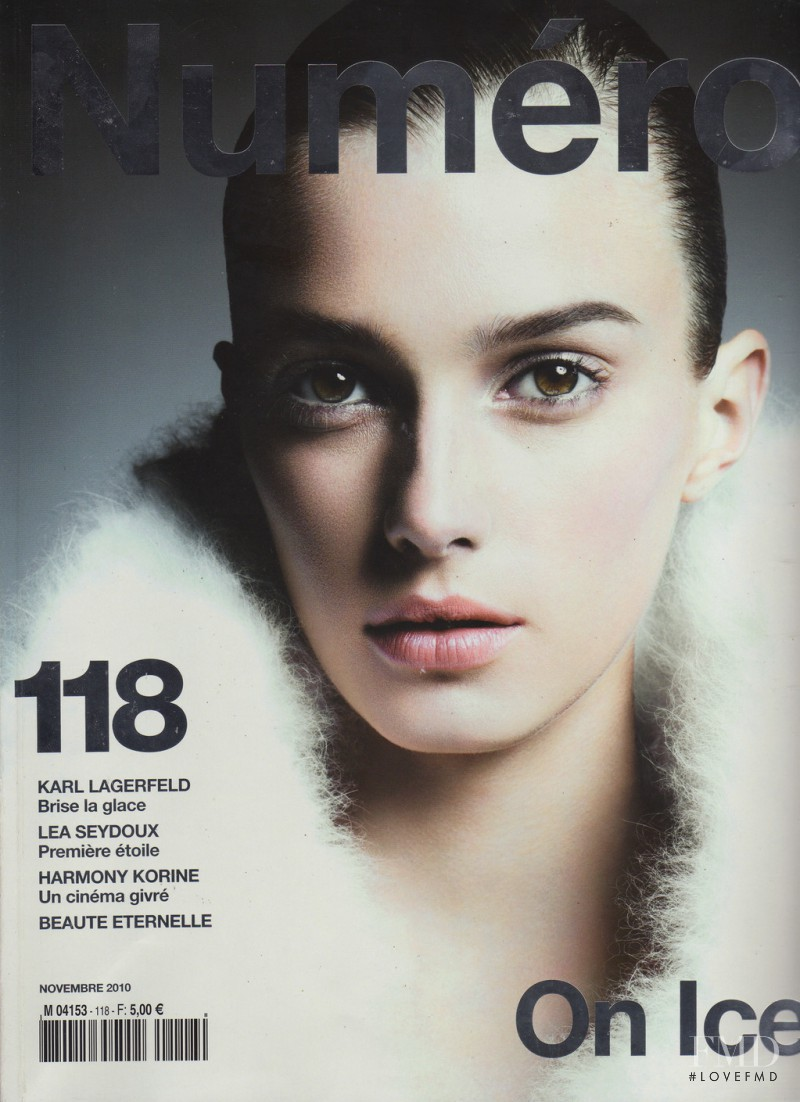 Sigrid Agren featured on the Numéro France cover from November 2010