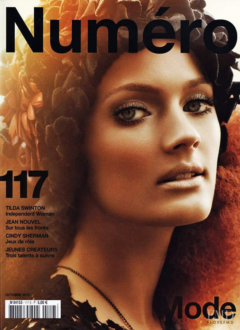 Constance Jablonski featured on the Numéro France cover from October 2010