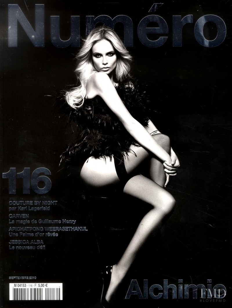 Natasha Poly featured on the Numéro France cover from September 2010