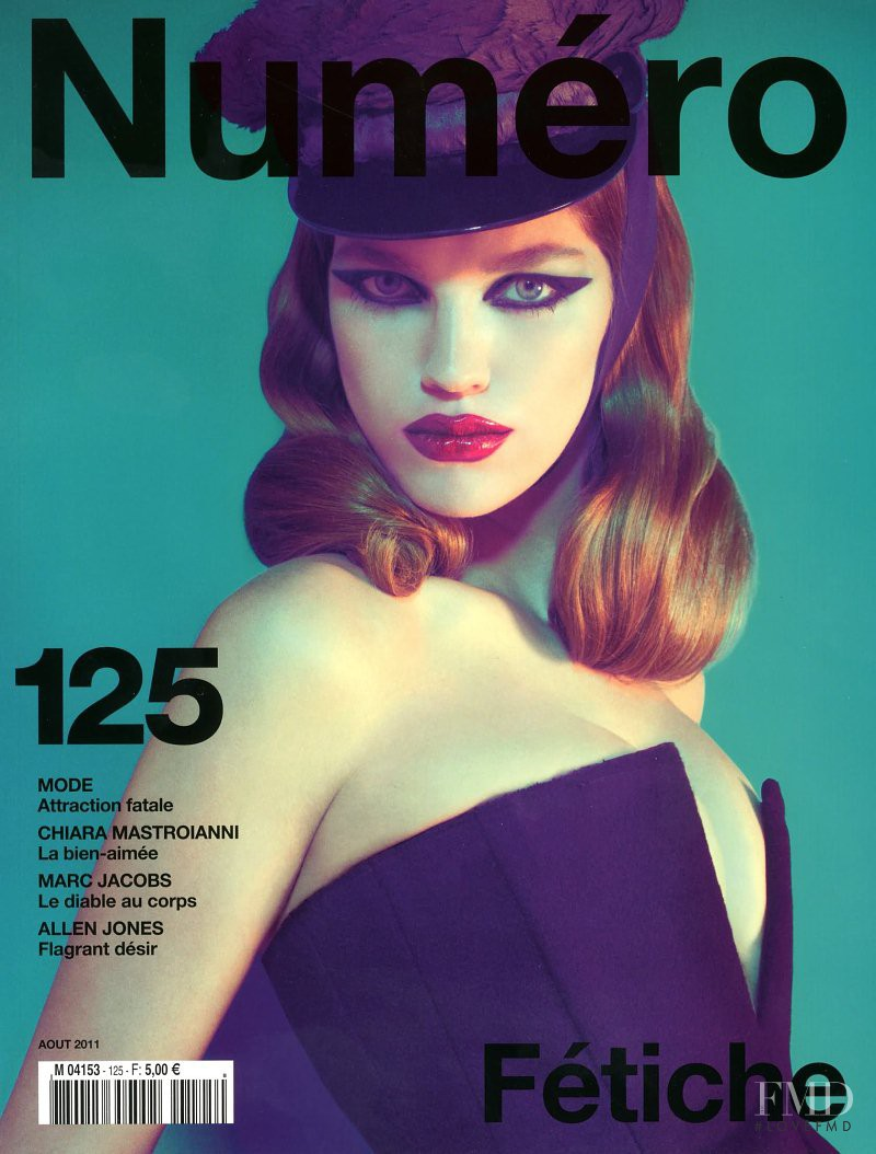 Samantha Gradoville featured on the Numéro France cover from August 2011