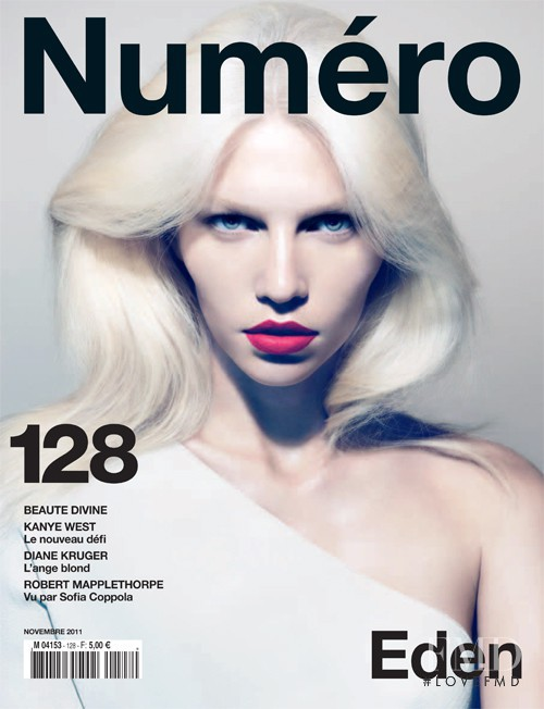 Aline Weber featured on the Numéro France cover from November 2011