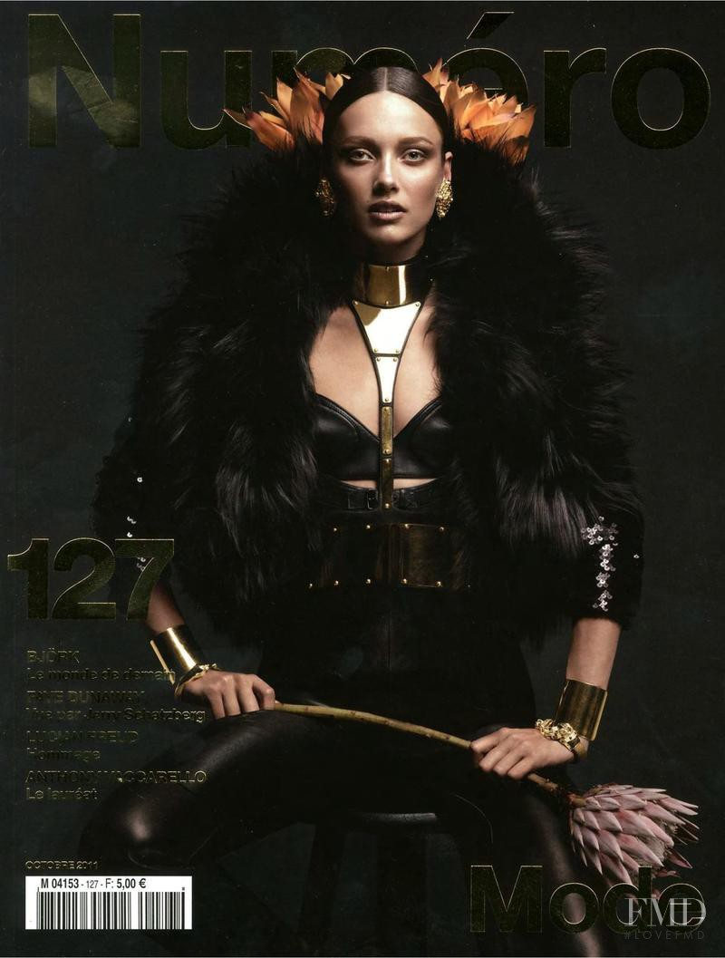 Karmen Pedaru featured on the Numéro France cover from October 2011