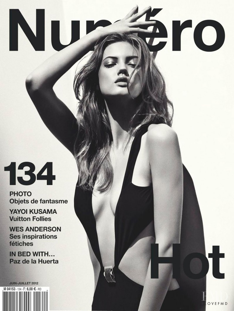 Lindsey Wixson featured on the Numéro France cover from June 2012