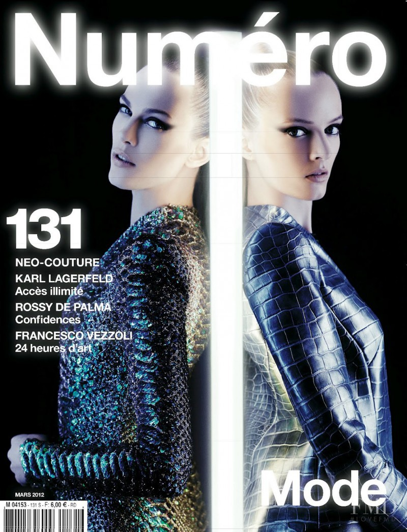 Daria Strokous, Aymeline Valade featured on the Numéro France cover from March 2012