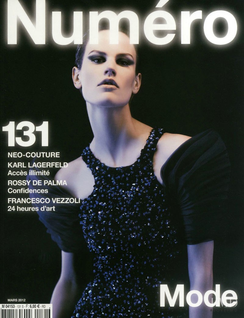 Saskia de Brauw featured on the Numéro France cover from March 2012