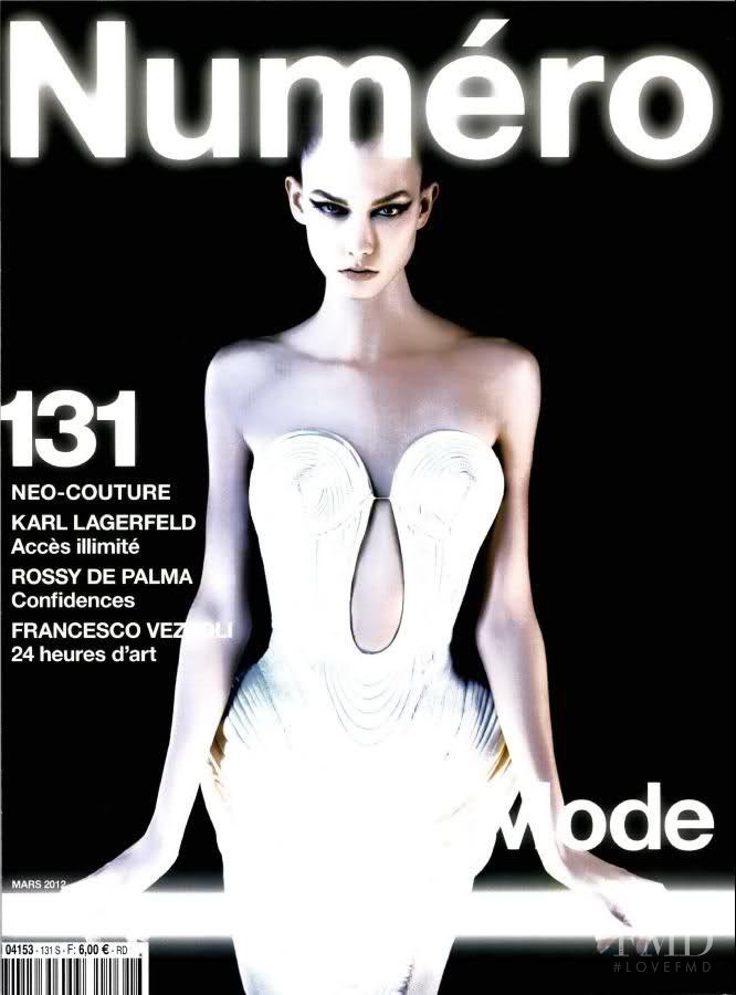 Karlie Kloss featured on the Numéro France cover from March 2012