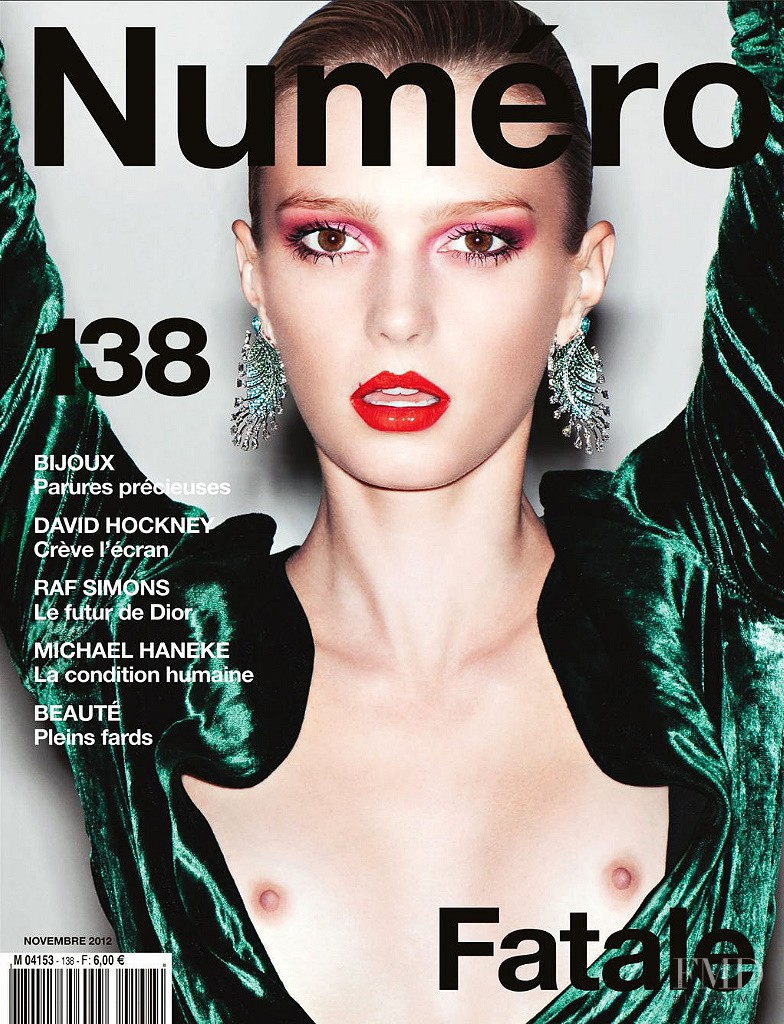 Sigrid Agren featured on the Numéro France cover from November 2012