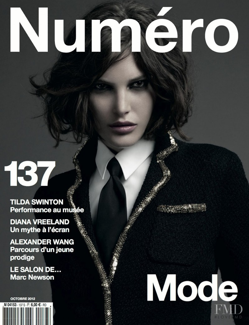 Catherine McNeil featured on the Numéro France cover from October 2012