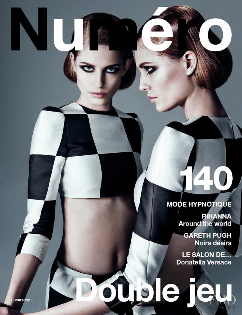 Nadja Bender featured on the Numéro France cover from February 2013