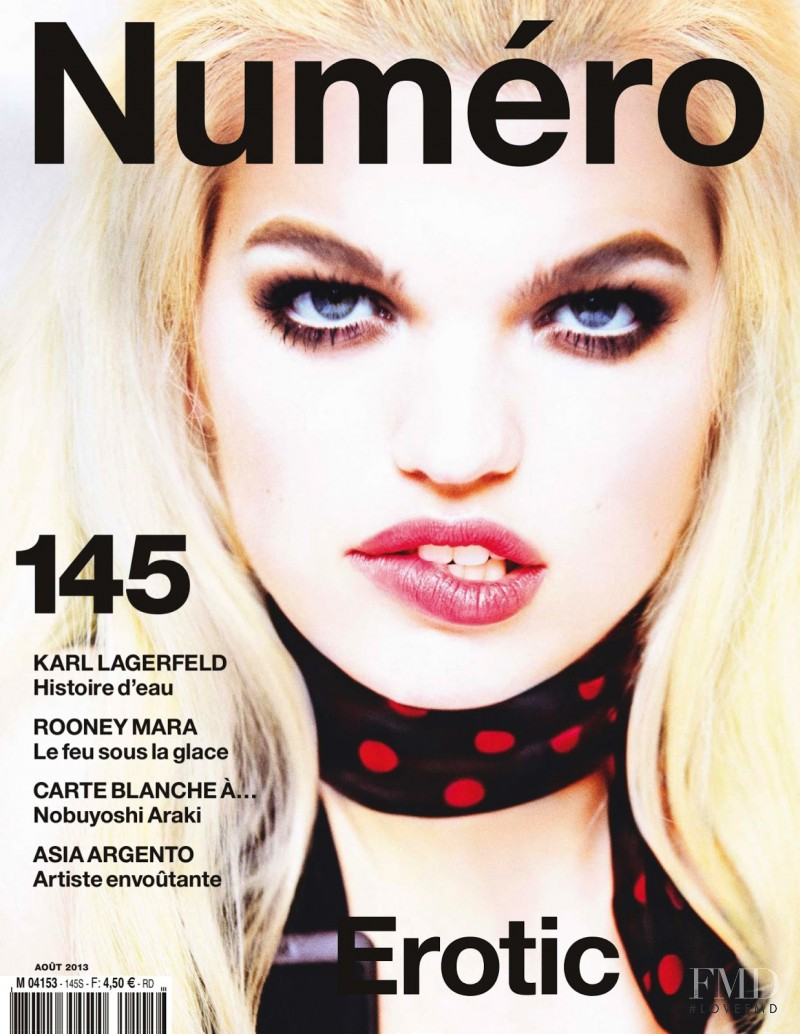 Daphne Groeneveld featured on the Numéro France cover from July 2013