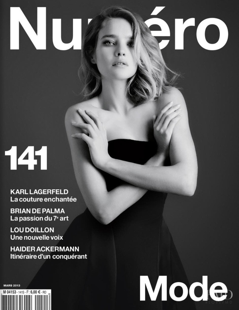 Natalia Vodianova featured on the Numéro France cover from March 2013