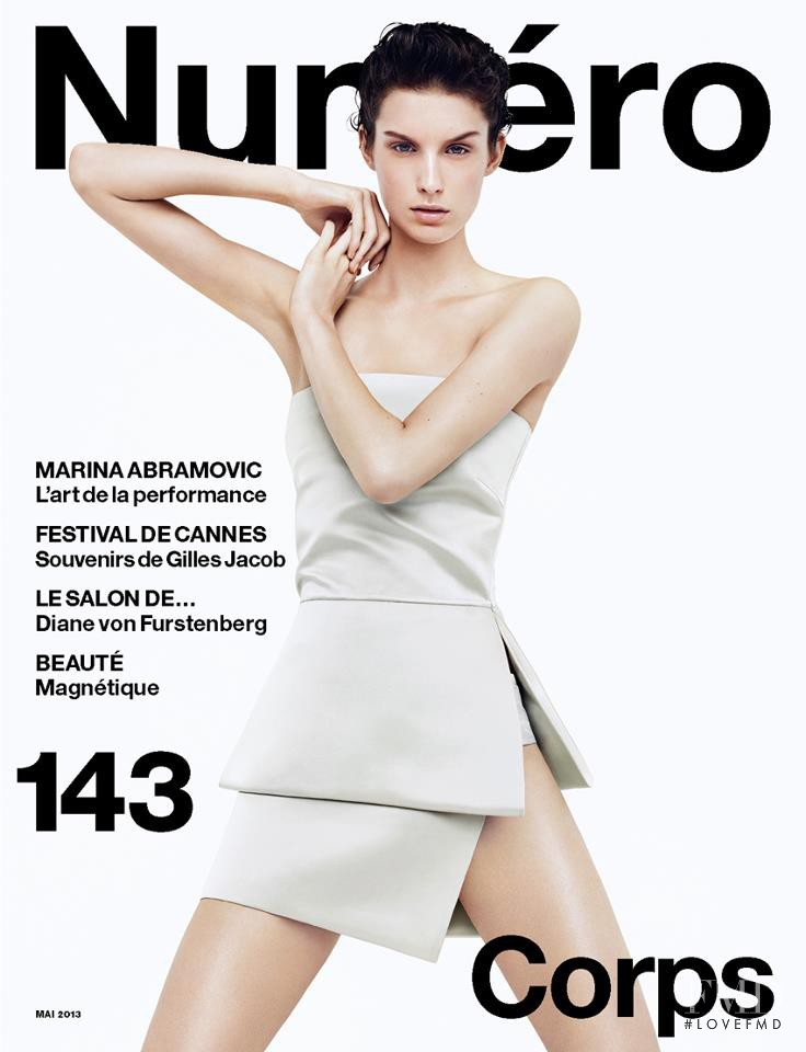 Marte van Haaster featured on the Numéro France cover from May 2013
