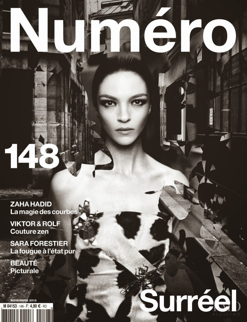 Mariacarla Boscono featured on the Numéro France cover from November 2013