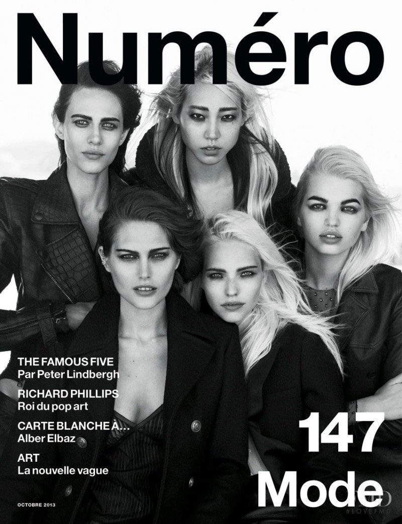 Catherine McNeil, Sasha Luss, Aymeline Valade, Daphne Groeneveld, Soo Joo Park featured on the Numéro France cover from October 2013