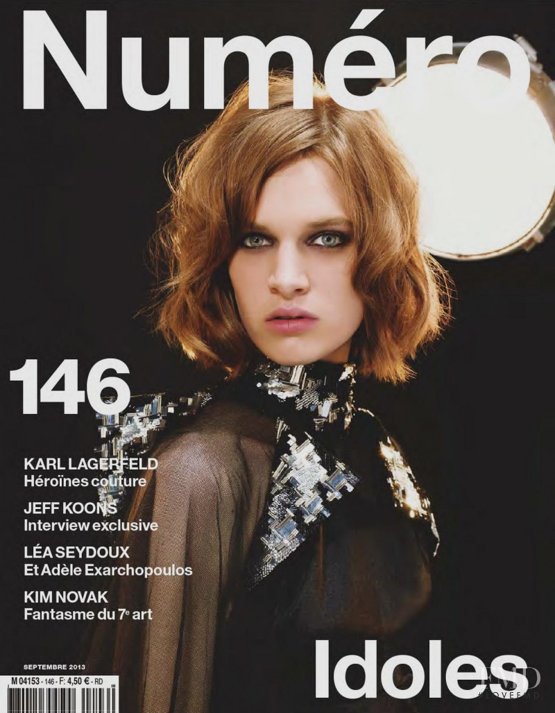 Ashleigh Good featured on the Numéro France cover from September 2013