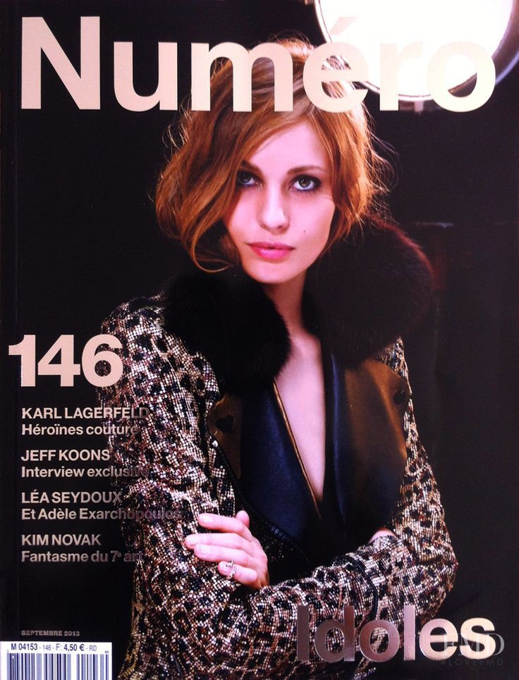 Nadja Bender featured on the Numéro France cover from September 2013