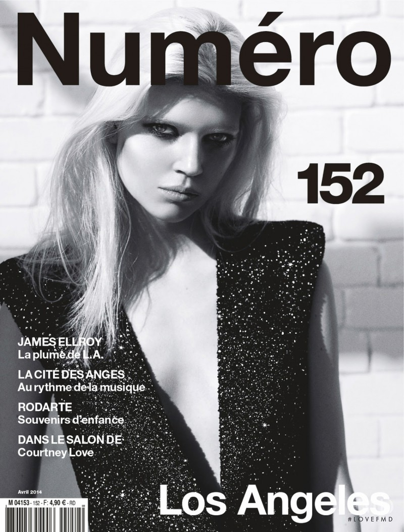Ola Rudnicka featured on the Numéro France cover from April 2014