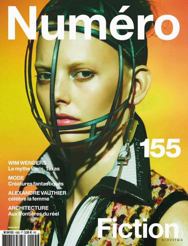 Amanda Murphy featured on the Numéro France cover from August 2014