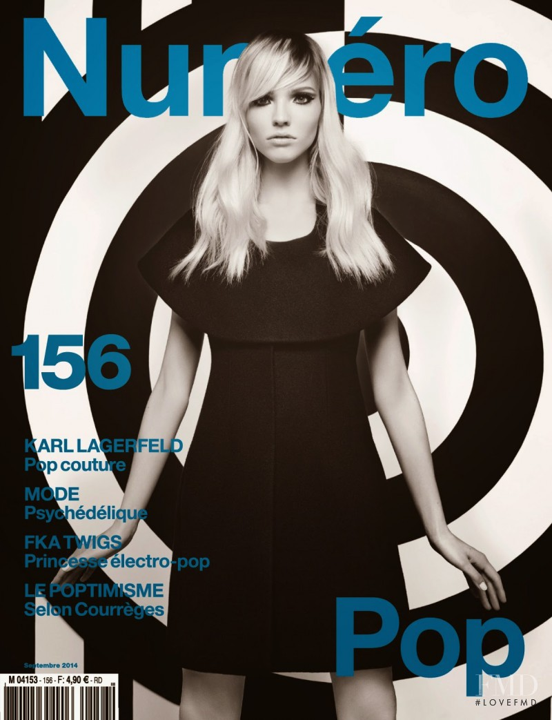 Sasha Luss featured on the Numéro France cover from September 2014