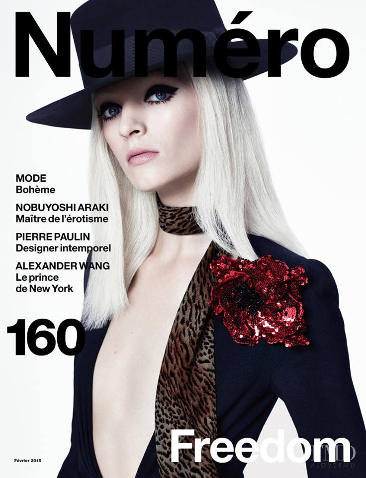 Daria Strokous featured on the Numéro France cover from February 2015