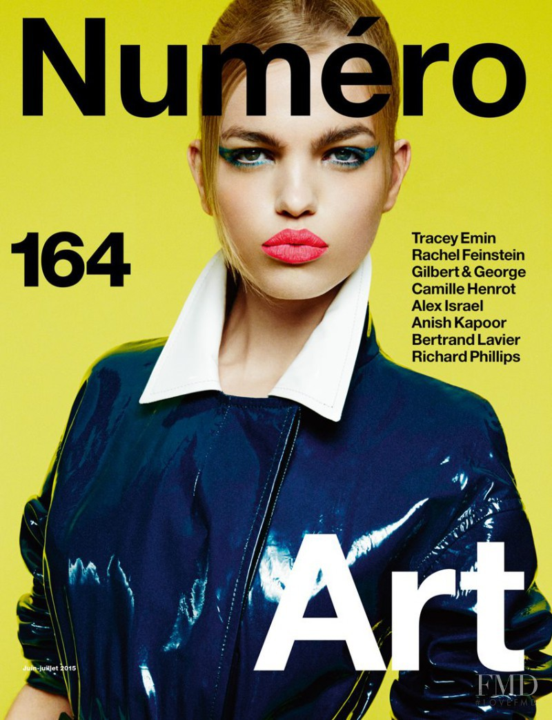Daphne Groeneveld featured on the Numéro France cover from June 2015