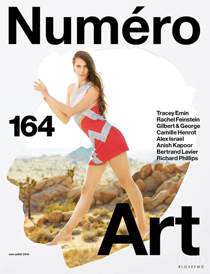 Jessica Miller featured on the Numéro France cover from June 2015