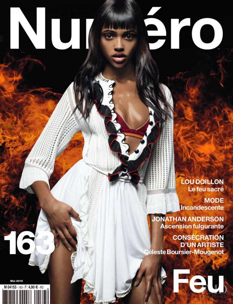 Aya Jones featured on the Numéro France cover from May 2015