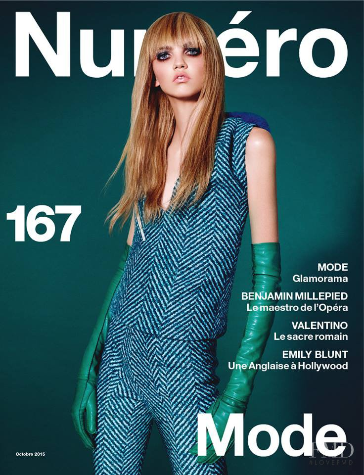 Molly Bair featured on the Numéro France cover from October 2015