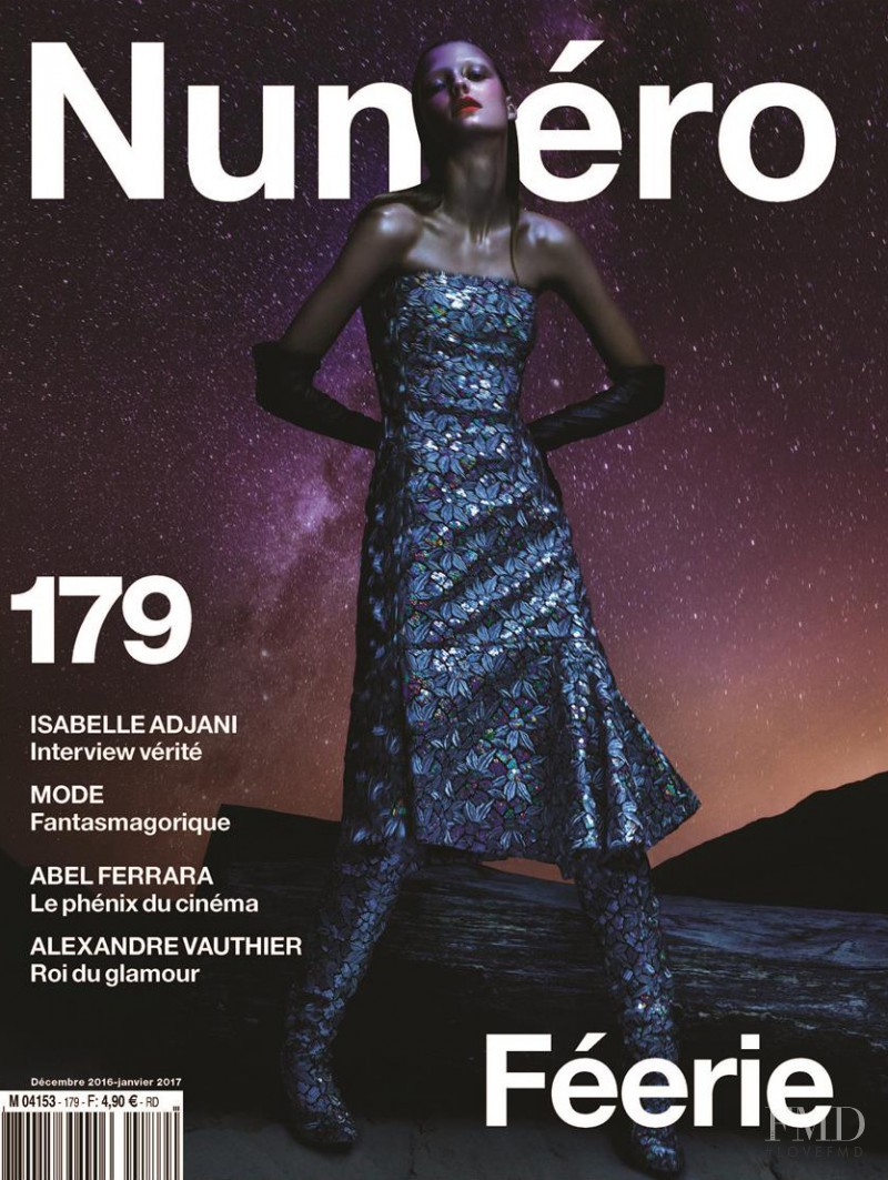 Roos Abels featured on the Numéro France cover from December 2016