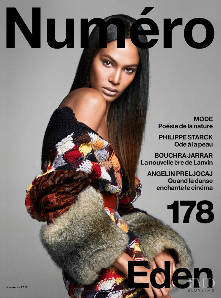 Joan Smalls featured on the Numéro France cover from November 2016