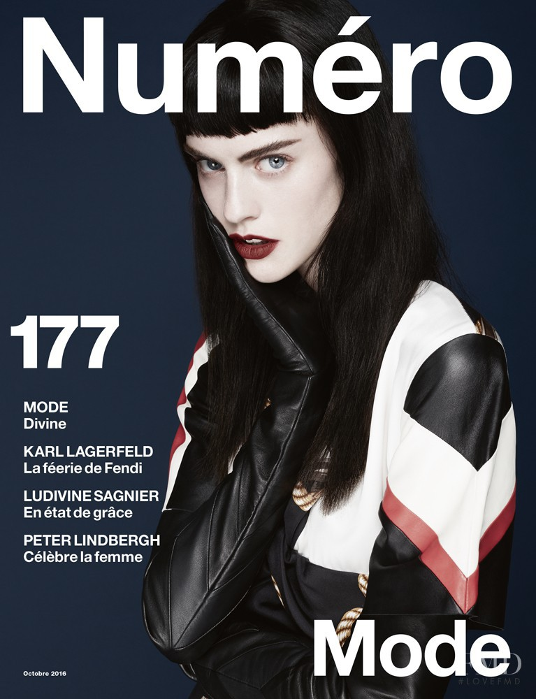 Sarah Brannon featured on the Numéro France cover from October 2016