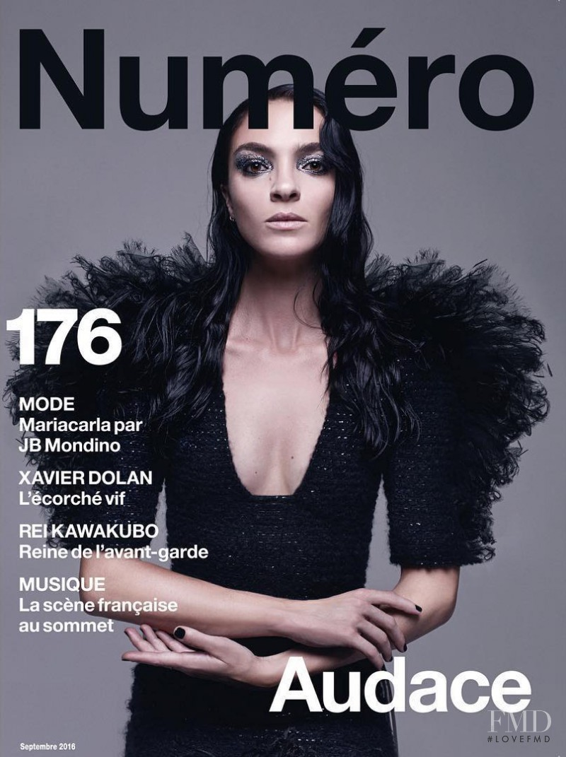 Mariacarla Boscono featured on the Numéro France cover from September 2016