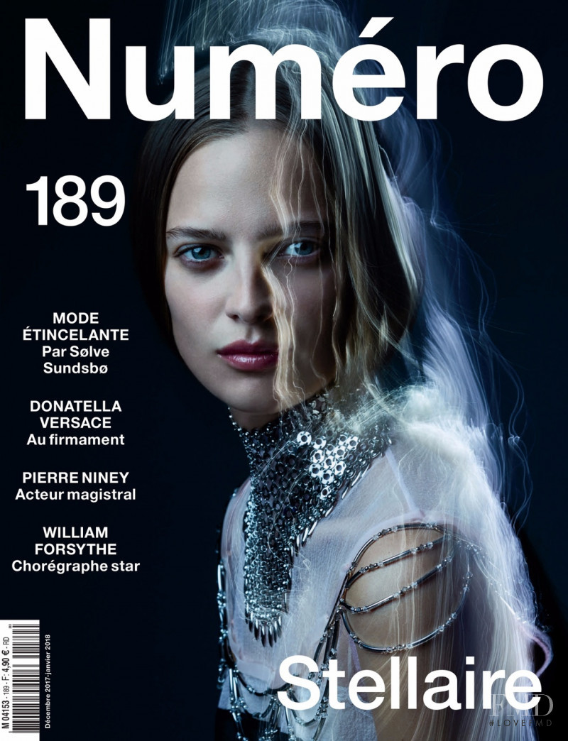 Ine Neefs featured on the Numéro France cover from December 2017