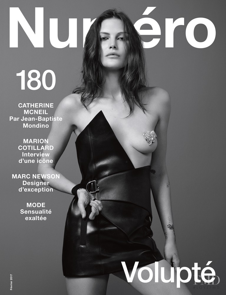 Catherine McNeil featured on the Numéro France cover from February 2017