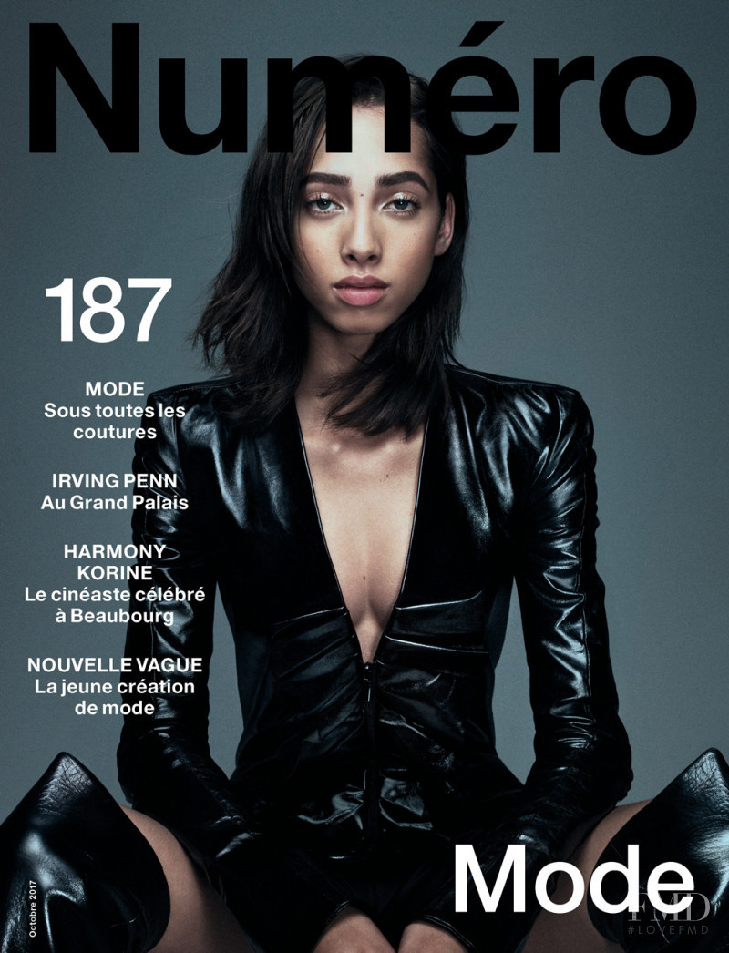 Yasmin Wijnaldum featured on the Numéro France cover from October 2017